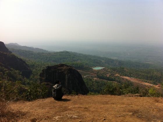 View dari puncak Gunung APi Purba Nglanggeran
